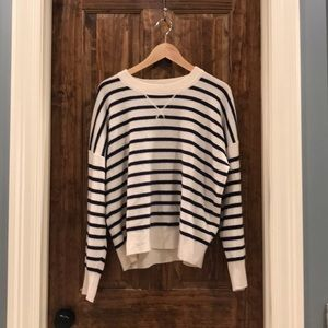 Madewell striped cashmere sweatshirt, XL